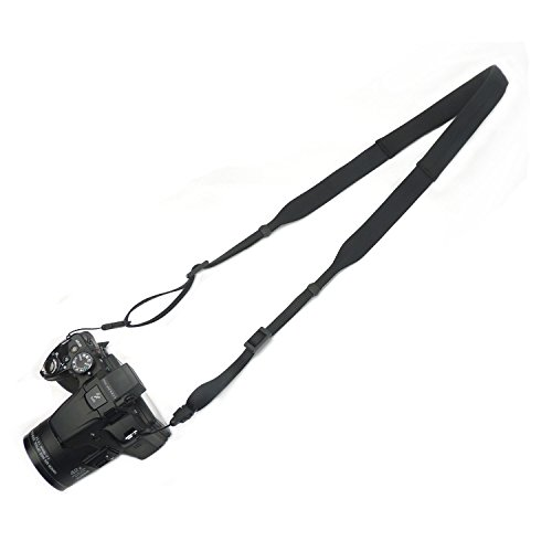 Galaxy Vintage Shoulder Bag (KANJIAN Light weight neoprene Camera Strap can be washed Universal Shoulder Neck Belt for DSLR Camera-Black)