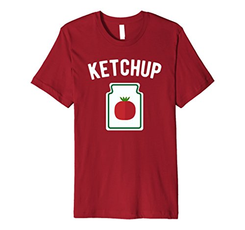 Mens Tomato Ketchup Bottle - Funny Halloween Costume T-Shirt 3XL Cranberry