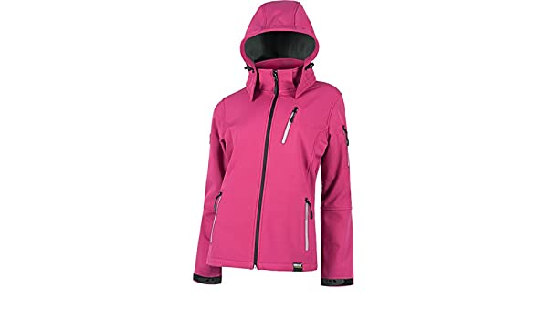 WORKTEAM - CHAQUETA WORKSHELL S9497 (T-M, FUCSIA): Amazon.es ...