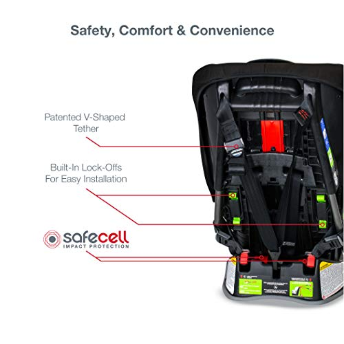 41fC439K7UL - Britax Allegiance 3 Stage Convertible Car Seat   1 Layer Impact Protection - Rear & Forward Facing - 5 To 65 Pounds, Azul