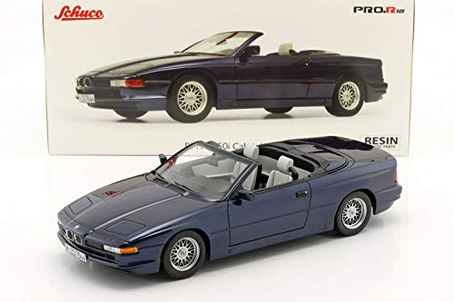 BMW 850i Cabriolet Blue Limited Edition to 500 Pieces Worldwide 1/18 Model Car by Schuco 450006900