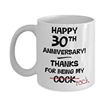 30th Wedding Anniversary Gift Mug For Him - Novelty Idea Funny Joke Gag 11oz Cup - Husband Present - 30 Thirty Years Married Thirtieth Year Anniversar
