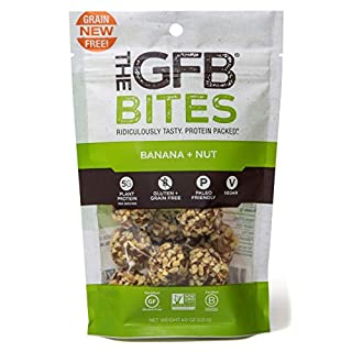 The Gluten Free Bar Paleo Grain Free Protein Bites, Banana Nut, 4 Ounce (6 Count), Vegan, Dairy Free, Non GMO