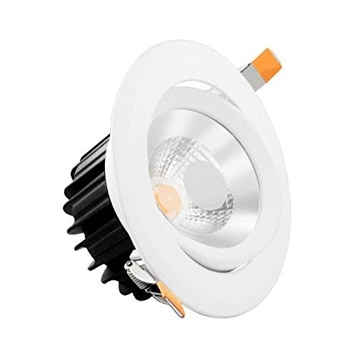 Infinity Green Lighting GAD0415 4'' Round Adjustable LED Recessed Light 15 Watts with Junction Box Dimmable (White, 2700K) by Infinity Green (Image #3)