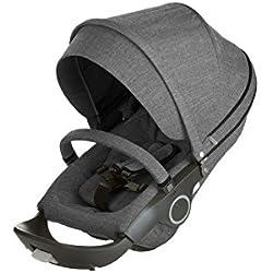 Stokke Stroller Seat Textile Set, Black Melange