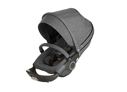 Stokke Stroller Seat Textile Set, Black Melange by Stokke
