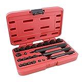 ABN Bushing Driver Set – 23 Pc Wheel Bearing Removal Tool and Bearing Installer Kit Standard SAE Bushing Press Kit
