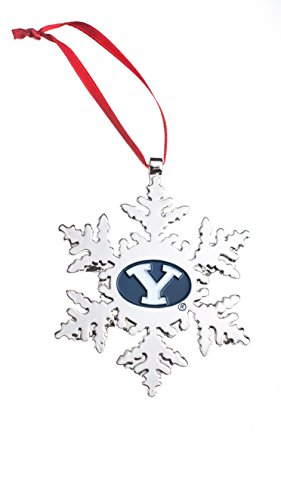 Collegiate Pulse BYU Cougars (Brigham Young University) NCAA Snowflake Christmas - Cougars Home Office Byu