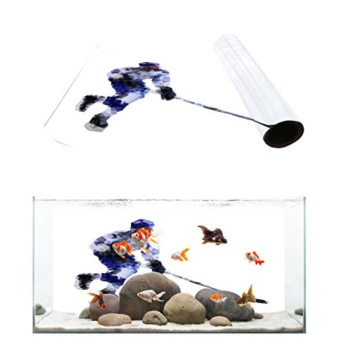 Fantasy Star Aquarium Background Geometric Hockey Player Fish Tank Wallpaper Easy to Apply and Remove PVC Sticker Pictures Poster Background Decoration 20.4