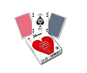 Fournier No. 2800 Poker Size Jumbo Index Playing Cards (Blue)