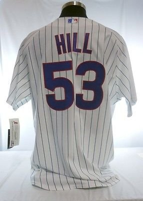 Rich Hill Chicago Cubs #53 Authentic Majestic Home Pinstripe Jersey
