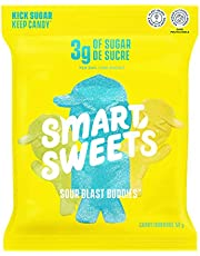 SMART SWEETS Low Sugar Sour Blast Buddies Candy Fruity, Free of Sugar Alcohols & No Artificial Sweeteners Sweetened with Stevia, Natural Fruit Flavors, 12x50g (Box of 12)
