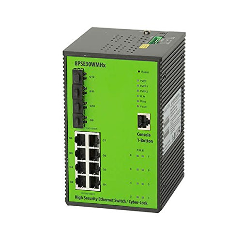 DYMEC KY-8PSE30WMHx 12 Port, PoE+ 30Watt Industrial Hardened Gigabit Ethernet Managed Swtich by DYMEC