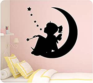 """Amazon.com: 24"""" Little Girl Fairy Sitting on Moon Stars"""