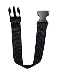 Fanny Pack Strap Extender Additional Buckle Luggage Strap Fastener 13 Inches Black