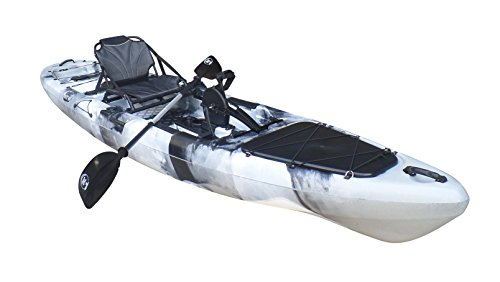 Brooklyn Kayak Company BKC UH-PK14 Pedal Drive Solo Traveler 13 Foot Kayak – Pedal Propeller Drive Single Sit On Top Fishing Kayak with Rudder Control (Grey Camo) Review