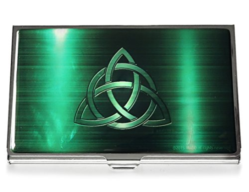 Celtic Knot Green Business Credit Card Case Id Holder Metal Travel Wallet Mother of Pearl by MADDesign