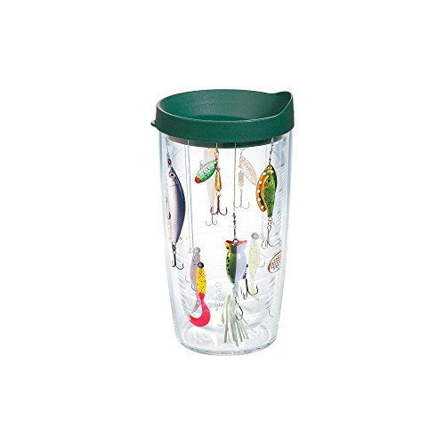 Tervis Fishing Tumbler Green 16 Ounce product image