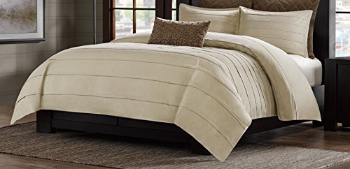 Metropolitan Home Wright Comforter Mini Set, Queen, Taupe
