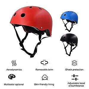 heirao4072 Casque De Vélo VTT Vélo Vélo Planche À roulettes Scooter Hoverboard Casque pour Hommes Femmes Enfants Childs, Sécurité D'équitation Léger Réglable Casque Respirant