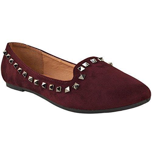 Con Deslizables Tachuelas Mujer Thirsty Fashion Zapatos Bajos 0qFOnP