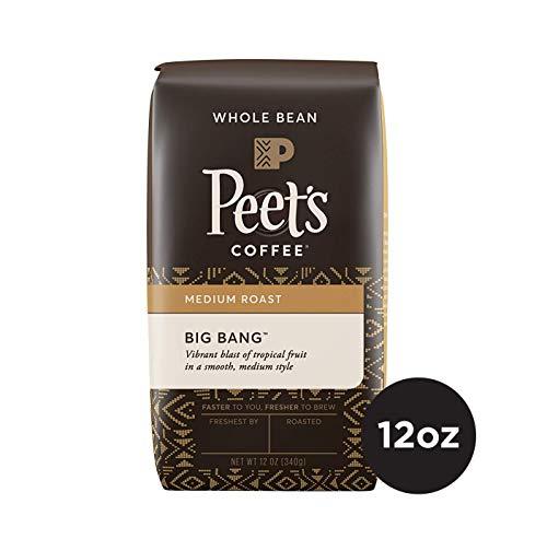 Peet's Coffee Big Bang Medium Roast Whole Bean Coffee, 12 Ounce Bag with Natural Ethiopia