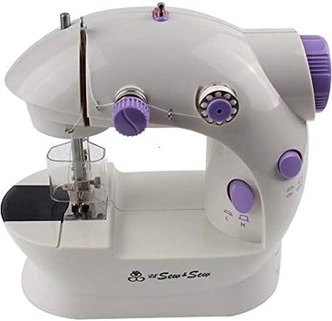 Michley LSS-Mini máquina de coser con protector de aguja: Amazon ...