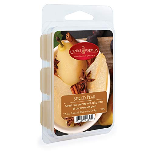 CANDLE WARMERS ETC. Classic Wax Melts for Scented Wax Cube and Tart Warmers, Spiced Pear, 2.5 oz.