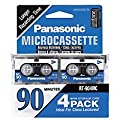 Panasonic 4 Pack Microcasssette RT-904MCW Tapes (90 minutes) from Panasonic