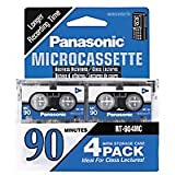 Panasonic 4 Pack Microcasssette RT-904MCW Tapes (90 minutes)