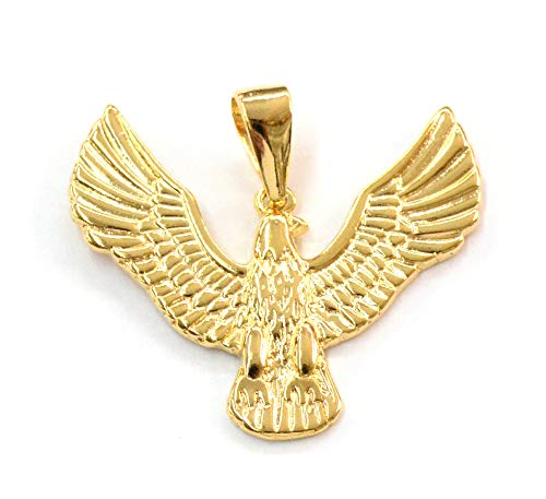 (1-2379-j5) 18kt Brazilian Gold Filled Eagle Pendant, 1-1/2