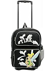 Disney Tinkerbell Large Rolling Backpack / Luggage / New
