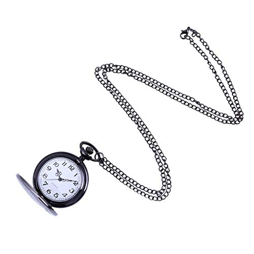LUXISDE Men's Watches Wrist Watch Women Couple Pocket Watch Retro Quartz Hanging Table Commemorative Table 221 Black ()