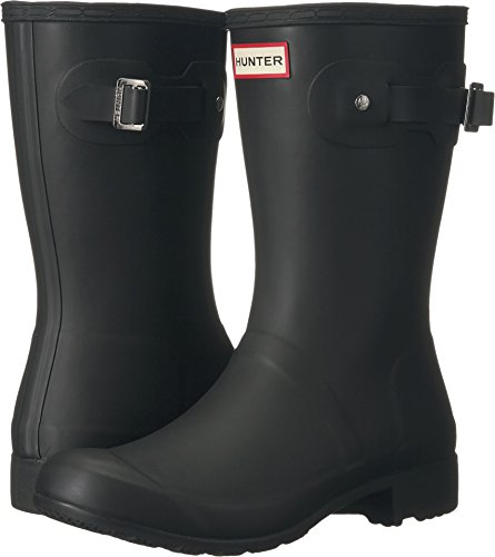 Hunter Women's Original Tour Short Black Mid-Calf Rubber Rain Boot - 9M