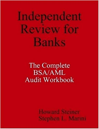 Book Independent Review for Banks - The Complete BSA/AML Audit Workbook July 17, 2008