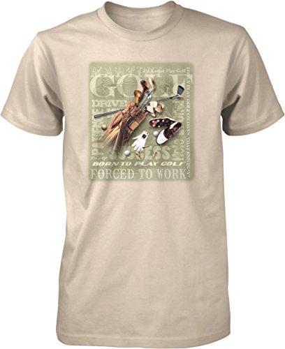 Golf, Golf Equipment, Born to Play Golf Men's T-shirt, NOFO Clothing Co. (Top Flite Mens Xl)