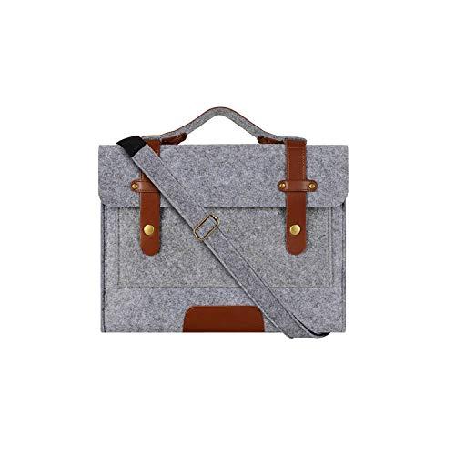 13 13.3 15 15.6 Inch Felt Laptop Bag Case for MacBook Men Women Handbag Briefcase Bags Notebook Messenger Shoulder Bag,Shoulderbag Gray,United States,13-13.3 Inch