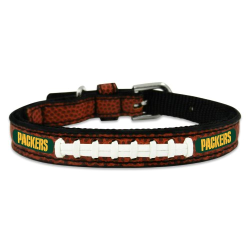 NFL Green Bay Packers Classic Leather Football Collar, Toy