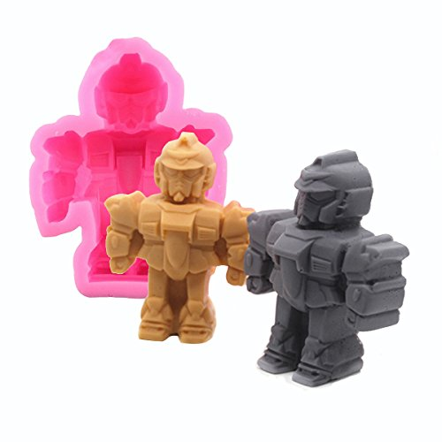 Robot Silicone Mold - MoldFun Robot Mold for Chocolate, Fondant, Ice Cube, Jello, Handmade Soap, Candle, Crayon, Wax, Plaster of Paris, Polymer Clay