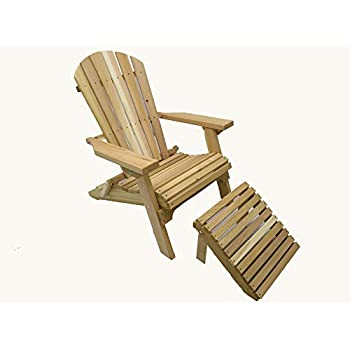 Amazon Com Kilmer Creek Folding Natural Cedar Adirondack