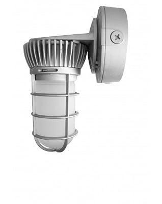 Westgate Lighting LED Vapor Lights-Silver Power Coated Finish Outdoor Light-One Box Mounting Option LED Frosted Borosilicate Glass Light-7 Year Warranty