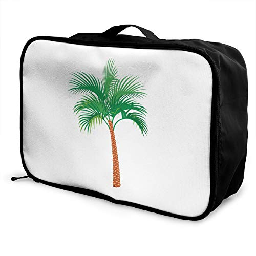 Palm Tree Lightweight Large Capacity Portable Luggage Bag Fashion Travel Duffel Bag