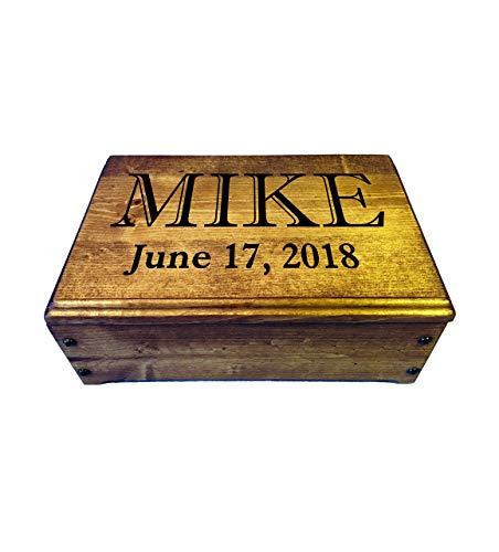 Handmade Rustic Wood Keepsake Box, Memory Box, Photo Box or Everyday Carry Valet Box - Personalized Wooden Gift