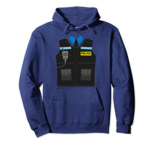 Police Sheriff Uniform Costume Hoodie | Funny Halloween -