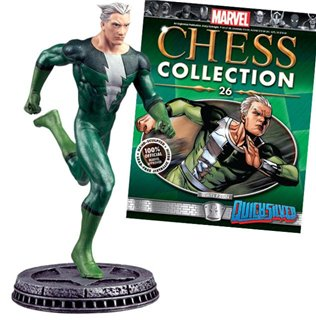Marvel Chess Figure & Magazine #26: Quicksilver White Pawn -  Eaglemoss Publications