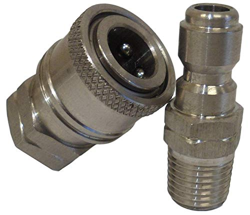 Ultimate Washer UW11-PWBC83 1/4-Inch High Pressure Quick Disconnect Adapter Set, Replaces Apache 98441022, 5000 PSI ()