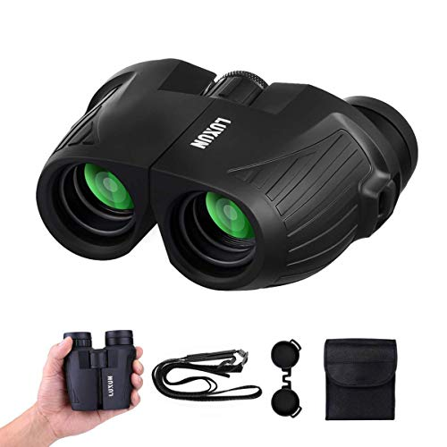 12x25 Compact Binoculars with Low Light Night Vision, SGODDE Folding High Power Waterproof Binocular Easy Focus for Outdoor Hunting, Bird Watching,Traveling, Concert and Sport Games Fit for Adults and