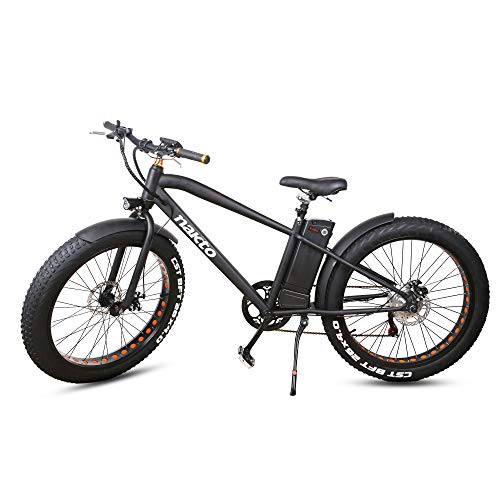 NAKTO Fat Tire Electric Bicycle Super Stable 500W/300W/350W Brushless Motor Three Working Mode 48V/36V Removable High Capacity Waterproof Lithium Battery Review