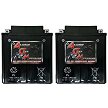 AGM Brand Or Similar Replacement For Arctic Cat 700 700 2006-2008 YTX14AH-BS Sealed Maintenace Free Battery High Performance 12V SMF OEM Maintenance Free Powersport Motorcycle ATV Scooter Snowmobile KMG -2 Pack