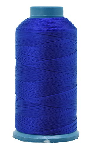Mandala Crafts Bonded Nylon Thread for Sewing Leather, Upholstery, Jeans and Weaving Hair; Heavy-Duty; 1500 Yards Size 69 T70 (Royal Blue)